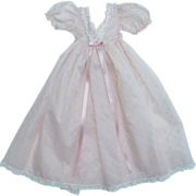 Madame Alexander Cissy Doll Pink Organdy Negligee White Flock C1957