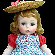 C1953 Alexander-kins Doll Strung Red Pinafore Dress Madame Alexander
