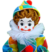 1990-92 Madame Alexander 8 Inch Clown Doll Painted Face Wendy Americana Series 305