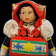 C1930s Lenci Mascotte Doll Lazio 310/8 Felt Costume Doll Tagged