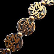 Rebajes Link Bracelet Solid Copper Mid Century Modernist Design Signed