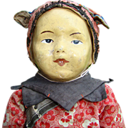 Old C1911 Five Finger Ching Toddler 17 Inch Chinese Cloth Benefit Mission Doll