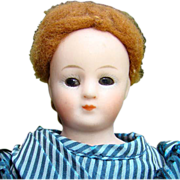 Simon & Halbig S & H German Bisque Doll 8in Original Victorian Bustle Gown C1910