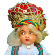 Vintage Norway Norwegian Hilda Ege Hardanger Bride Doll in Bunad C1959 - Red Tag Sale Item