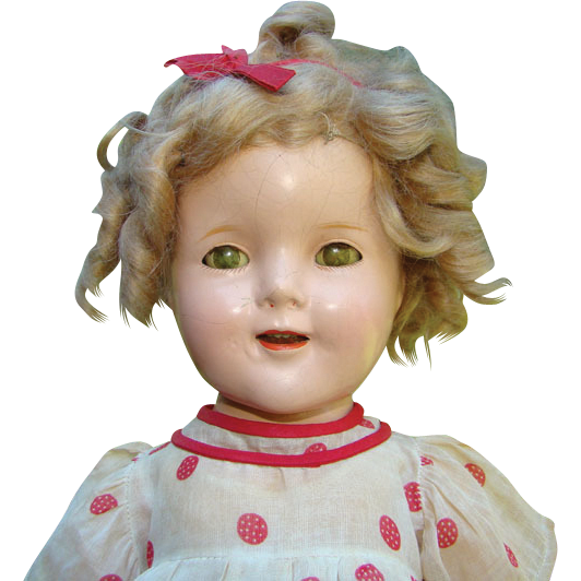 C1934 Ideal First Shirley Temple Composition Doll Stand Up and Cheer NRA Tagged Dress 18 Inch