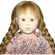 1991 Lynne and Michael Roche Tiny Sophy Doll Christmas Morning 24/50 Porcelain Wood 13.5 in