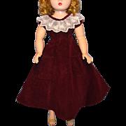 Vintage Burgundy Cocktail Dress 3 Piece for Madame Alexander Cissy Doll