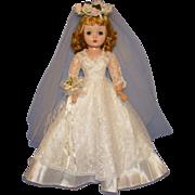 Vintage White Lace Satin Bride Gown for Madame Alexander Cissy Doll Gorgeous