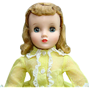 Elise Doll in Original Yellow Flocked Shirtwaist Dress Blond Hair Madame Alexander