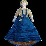 Antique German Parian Doll Alt Beck & Gottschalk 18 inch Blonde Original Gown