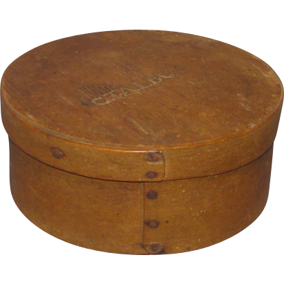 Signed Hingham MA Pantry Box A Sprague C Talbot Natural Patina C1820-60