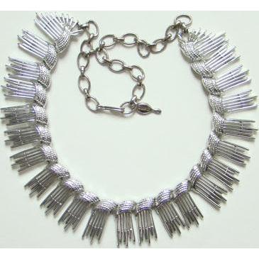 1962 Sarah Coventry Simply Elegant Silvertone Necklace 8894