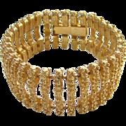 Vintage Classic Goldtone Link Bracelet C1960s Etruscan Revival Style