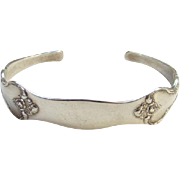 Vintage Reed and Barton Silver Savannah Spoon Cuff Bracelet Signed Sterling