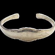 Vintage Lunt Sterling Silver Spoon Bracelet Monogrammed JLA Signed Larger Size