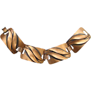 Vintage Copper Four Link Bracelet Modernist Style Copper Jewelry