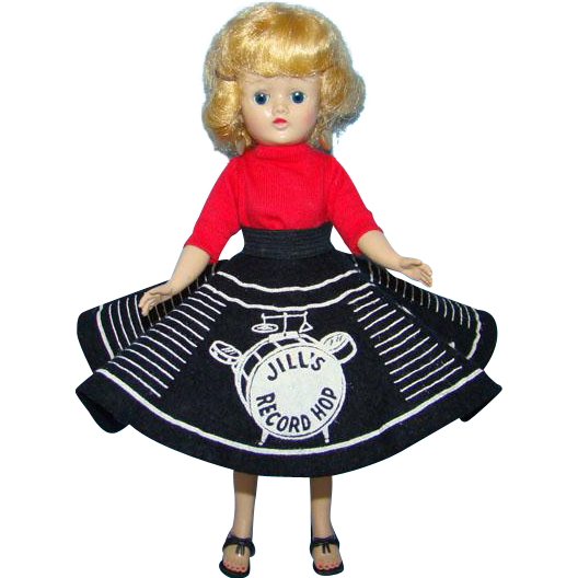 Vogue 1957 Jill Doll in Record Hop Outfit Blond Angel Cut Hairstyle Beautiful