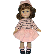 Vogue Ginny Doll Gym Kids Pink Version #30 Molded Lash 8 Inch SLW 1955-56