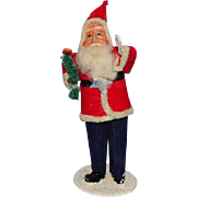 Antique Japan Christmas Santa Claus St Nicholas Carrying Brush Tree 6in