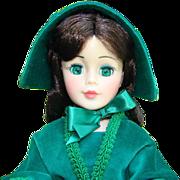 1979-85 Madame Alexander Portrait Scarlett Doll 2240 Jacqueline Face Green Velvet Gown 21 Inch
