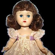 1955 Vogue Ginny Doll SLW Molded Lash Kinder Crowd 26 Brunette 8 Inch
