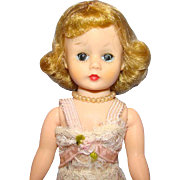 C1950s Madame Alexander Cissette Doll Blond Dressed in Basic Lace Chemise Pretty