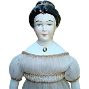 Old Artist Signed China Head Doll Empress Josephine of France Rosamond McCall 20 Inch