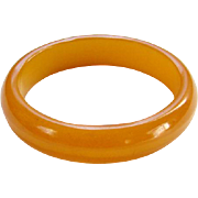 Bakelite Bangle Bracelet Butterscotch Egg Yolk Yellow C1930s Art Deco