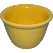 Vintage Yellow Ware Yelloware Yellowware Custard Cup with Rolled Rim