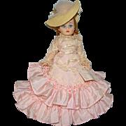 1968 Redhead Cissette Godey Portrettes Doll in Pink Taffeta Gown Madame Alexander Pristine