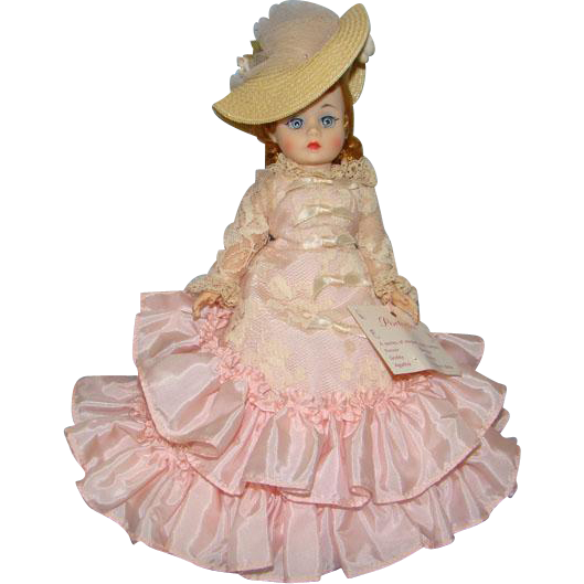 1968 Redhead Cissette Godey Portrettes Doll in Pink Taffeta Gown Madame Alexander Pristine