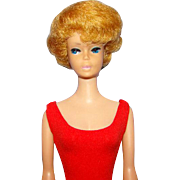 Bubblecut Barbie Doll C1964 Strawberry Blonde Hair Pink Lips Original Swimsuit As-Is