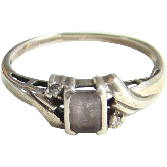 Victorian Amethyst Sterling Silver Ring Size 9