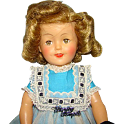 1959 Ideal Shirley Temple Doll 12 in Vinyl in School Dress White Apron Original Box