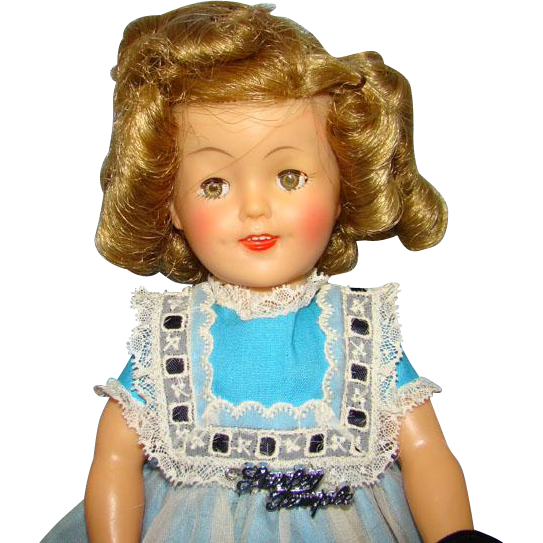 1959 Ideal Shirley Temple Doll 12 in Vinyl in School Dress White Apron Original Box