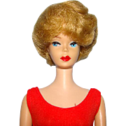 C1962 Bubble Cut Barbie Doll Blond Beautiful Clean Condition Repainted Red Lips