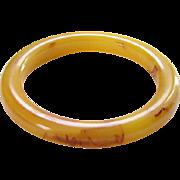 Bakelite Bangle Bracelet Marbled Butterscotch Carmel Vintage