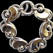 Old Napier Sterling Silver Modernist Style Link Bracelet C1940-50