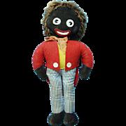 Old Alpha Farnell Cloth Golliwog Doll Made in England 13 Inch