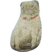 C1900 Art Fabric Mills Bow Wow Cloth Doll Pug Dog Plaything