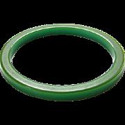 Vintage Green Bakelite Bangle Spacer Bracelet