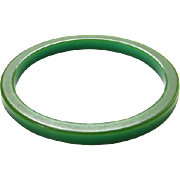 Vintage Green Bakelite Bangle Spacer Bracelet