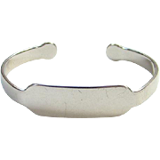 Vintage Beau Sterling Silver Monogram ID Bracelet No Initials Signed