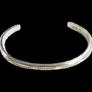 Tahe Native American CHILD Cuff Bracelet Sterling Silver Stamp Design