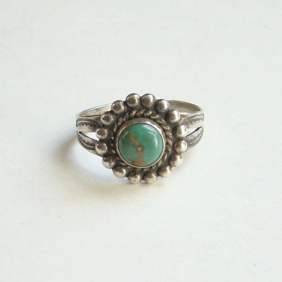 Silver Post Ring With Mexico Stamp