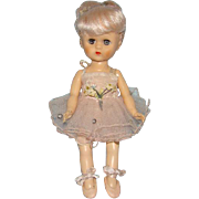 C1956 Virga Schiaparelli Tu Tu Ballerina Doll Tagged Ballet Costume Pink Hair