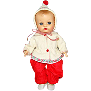 1957 Vogue Ginnette Baby Doll in Original 7626 Snowsuit Sleep Eyes Ginny Family 8 Inch Vinyl