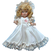 1940s Vogue Toddles Bride Doll Blond Jointed Composition Tagged Outfit