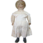 Old Antique Art Fabric Mills 27 Inch Cloth Doll Large Size