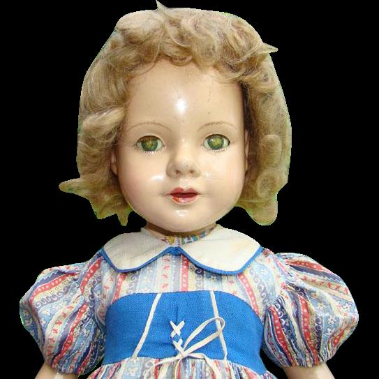 Rare Dewees Cochran Composition Portrait Doll Barbara Lou 21 Inch Effanbee America's Children